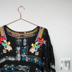 Johnny Was Collection Danny Short-Sleeve Blouse